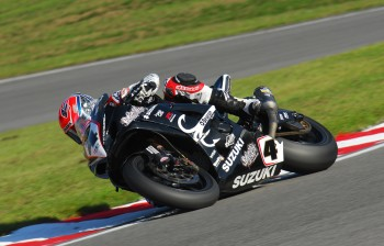 Michael Laverty in action on the TAS Suzuki at Brands