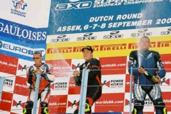 On the Podium in Assen