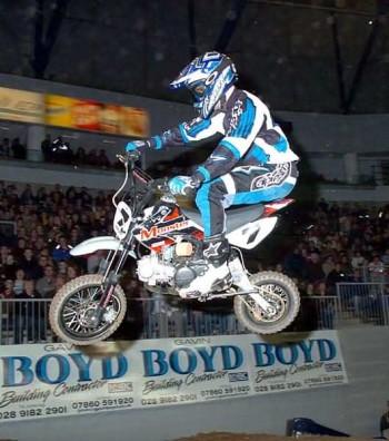 Odyssey Supercross minibike race